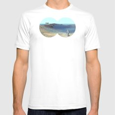 Cosmos & Indians MEDIUM White Mens Fitted Tee
