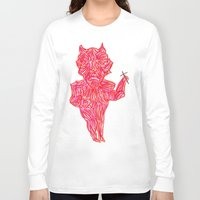 devil Long Sleeve T-shirts featuring Devil by Guice Mann