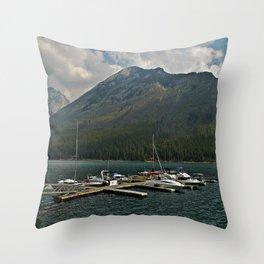 Boat Slips Throw Pillow