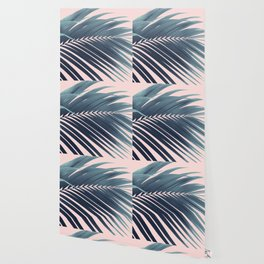 Palm Leaf Blush Vibes #1 #tropical #decor #art #society6 Wallpaper