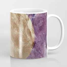 Gold and Purple Paint Coffee Mug