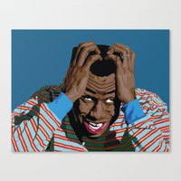 tyler spangler Canvas Prints featuring Tyler by Lily Patterson
