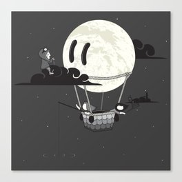 You Should See The Moon In Flight Canvas Print