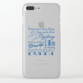 Cycling Mommy Clear iPhone Case