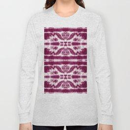 Tie-Dye Burgundy Twos Long Sleeve T-shirt