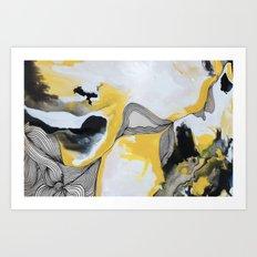 Veins  - Yellow Art Print