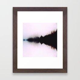 Ink forest reflections Framed Art Print