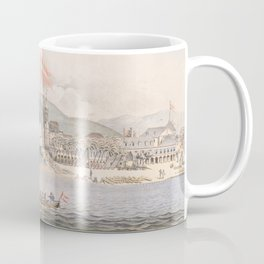 Vintage Pictorial View of Christiansted St Croix (1839) Coffee Mug