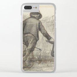 Peasant with Sickle Clear iPhone Case