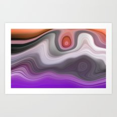 Abstract Landscape - Volcanic Art Print