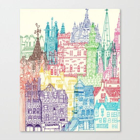 Edinburgh Towers Canvas Print