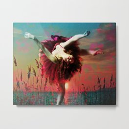 Flamingo Lagoon (Postcards from Shangri-La) Metal Print