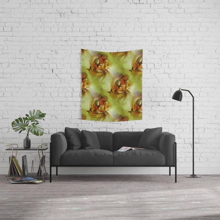 retro pattern -02- Wall Tapestry