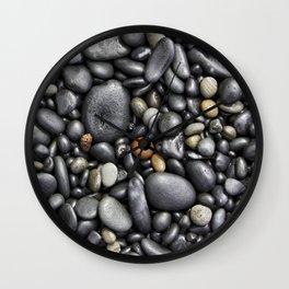 Blacksand Beach Rocks Wall Clock
