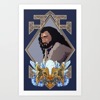 thorin Art Prints featuring Thorin  by Inkforwords
