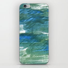 Wintergreen Dream abstract watercolor iPhone Skin