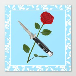 Switchblade Rose in Color Canvas Print