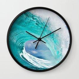 Wave Series Photograph No. 28 - Ocean Blue Wall Clock