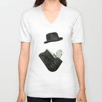 smoke V-neck T-shirts featuring Smoke by Lerson