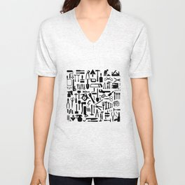 Tools silhouettes Unisex V-Neck