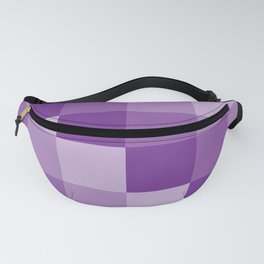 Four Shades of Purple Square Fanny Pack