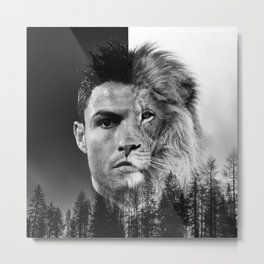 Cristiano Ronaldo Beast Mode Metal Print