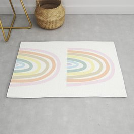 my own pastel rainbow Rug