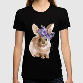 Little bunny in Wreath T-shirt