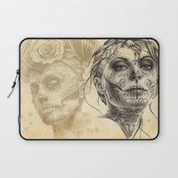 calavera Laptop Sleeves featuring Calavera - two by Fresh Ink