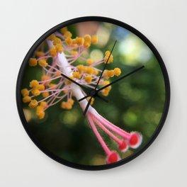 Hibiscus Pistil Wall Clock