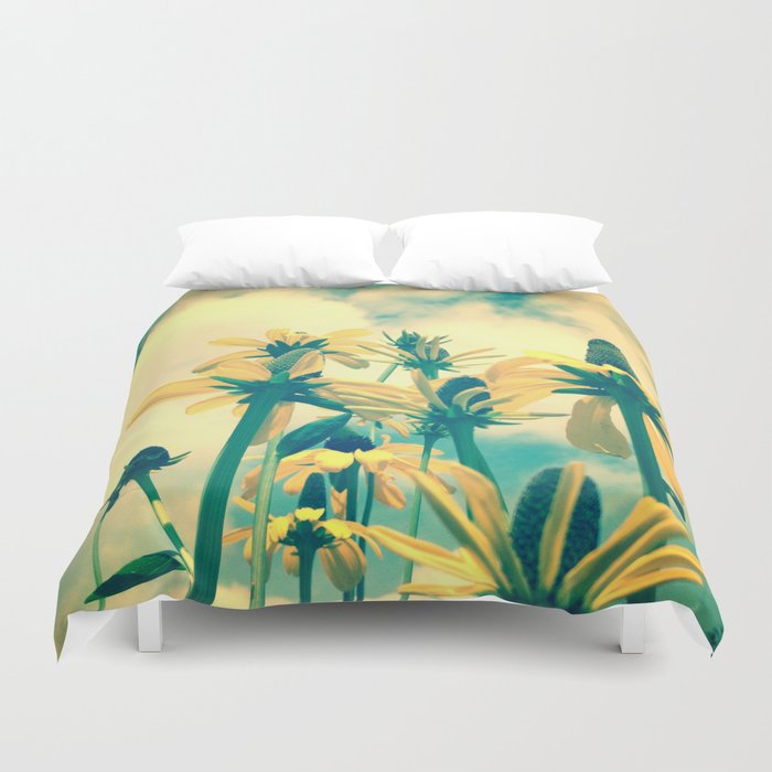 She Had a Carefree Spirit and Happy Heart Duvet Cover