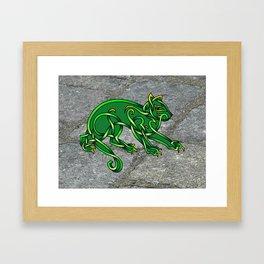 St. Pat's Cat Framed Art Print