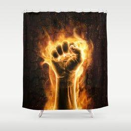 Fire fist Shower Curtain