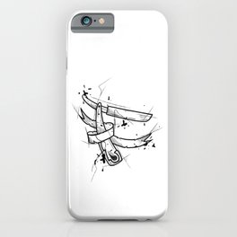 Razor Handmade Drawing, Made in pencil and ink, Tattoo Sketch, Tattoo Flash, Blackwork iPhone Case