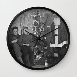 Celebrate in Style Wall Clock