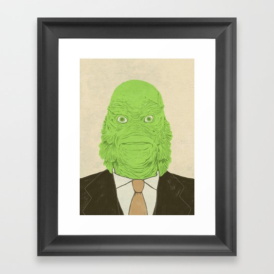 Young Professional from the Black Lagoon Framed Art Print