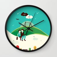 fault Wall Clocks featuring The Fault In Our Stars by Risa Rodil
