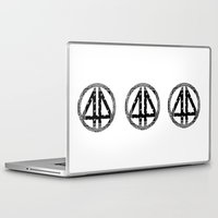 bands Laptop & iPad Skins featuring Floral bands by ART ON CLOTH