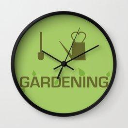 I heart Gardening Wall Clock