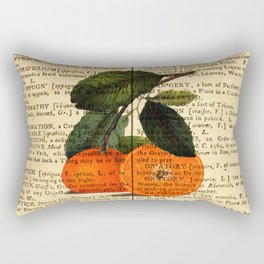 Vintage Oranges Dictionary Art Rectangular Pillow