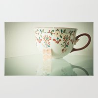 tea Area & Throw Rugs featuring Tea by Olivia Joy StClaire