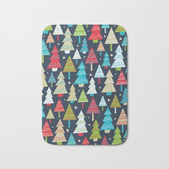 Christmas Trees Bath Mat