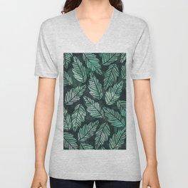 Colorful leaves IV Unisex V-Neck