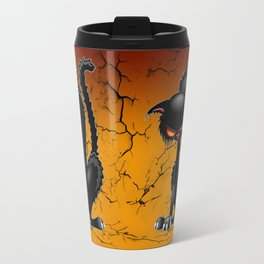 Black Cat Evil Angry Funny Character Travel Mug