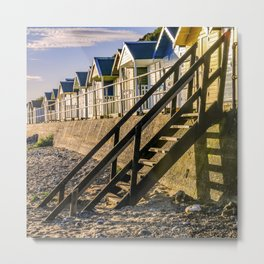 Norfolk beach huts Metal Print