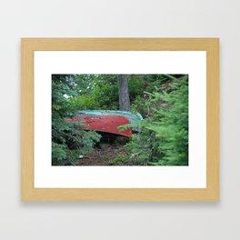 Two Canoes at Gordon Island Framed Art Print