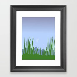 Moonlit Marsh Framed Art Print