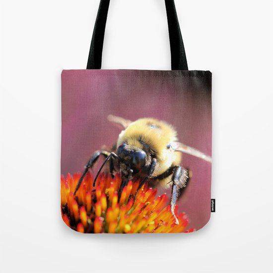 Fuzzy Bumble Tote Bag