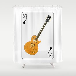 Guitar Playing Card Shower Curtain