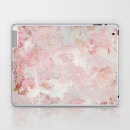 Vintage Floral Rose Roses painterly pattern in pink Laptop & iPad Skin